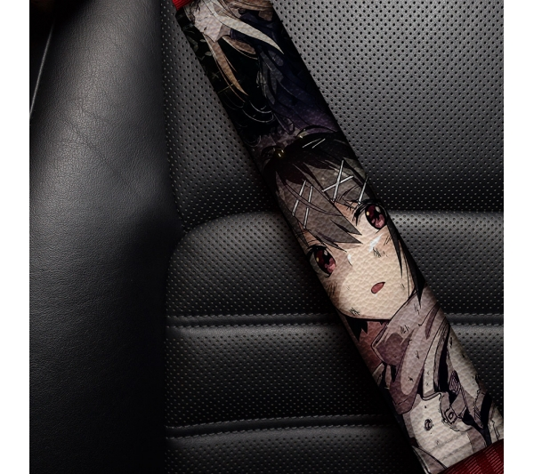 Blame! v6 Cibo Sanakan Domochevsky Killy City Netsphere Silicon Creatures Cyborg Blame Eco Leather Printed Car Seat Belt Cover
