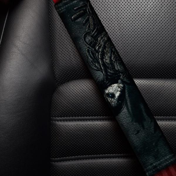 Sanakan Domochevsky Killy Cibo v3 City Netsphere Silicon Creatures Cyborg Eco Leather Printed Car Seat Belt Cover>