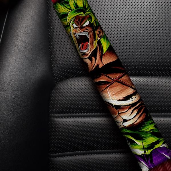 Broly Triple Dragon Ball Z Super ドラゴンボール DBZ JDM Anime Manga Eco Leather Printed Car Seat Belt Cover