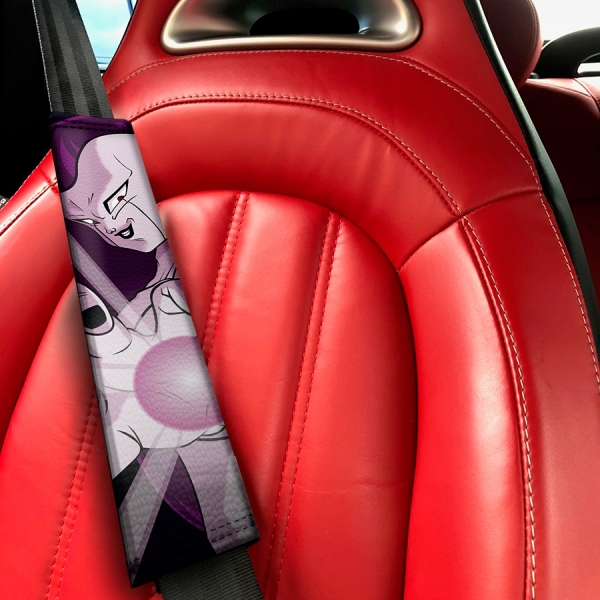 Frieza Emperor Universe 7 Goku Saiyan Dragon Ball Z Super DBZ Funny JDM Eco Leather Printed Car Seat Belt Cover