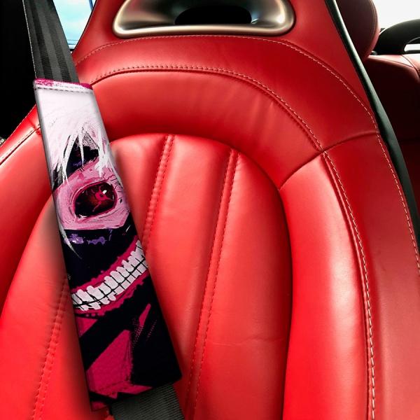 Tokyo Ghoul Blood Ken Kaneki Manga Anime 東京喰種 トーキョーグール Eco Leather Printed Car Seat Belt Cover>
