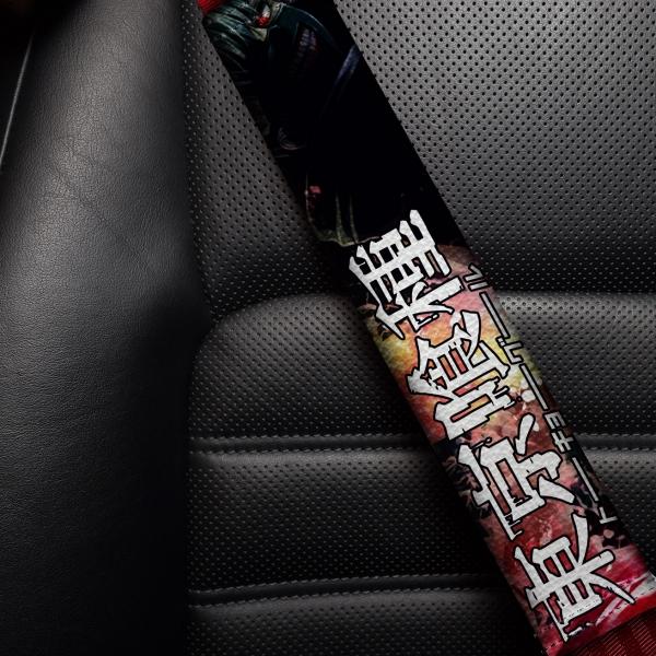Tokyo Ghoul v2 Blood Ken Kaneki Manga Anime 東京喰種 トーキョーグール Eco Leather Printed Car Seat Belt Cover>
