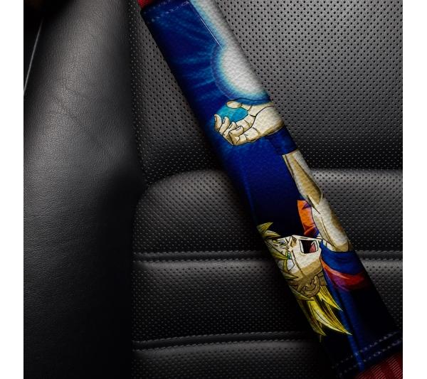 Goku v2 Super Saiyan Blue Dragon Ball Z Super ドラゴンボール DBZ Funny JDM Anime Manga Eco Leather Printed Car Seat Belt Cover