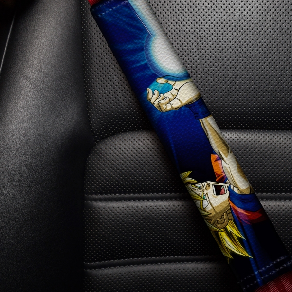 Goku v2 Super Saiyan Blue Dragon Z Super ドラゴンボール DBZ Funny JDM Anime Manga Eco Leather Printed Car Seat Belt Cover>
