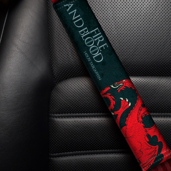House Targaryen Dragonstone Dragons Sign Mother Daenerys Queen Fire Blood Eco Leather Printed Car Seat Belt Cover>