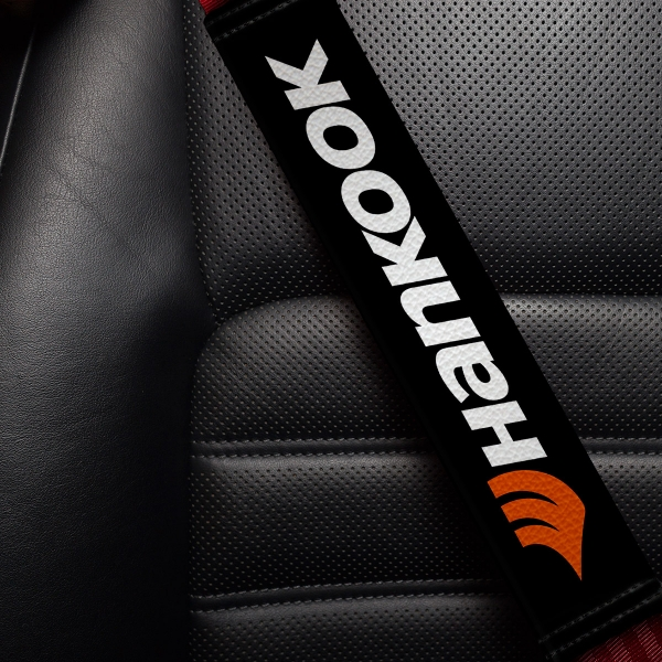 Hankook Tire Logo Laufenn Aurora Kingstar Racing Tuning Sport Development Sponsor Eco Leather Printed Car Seat Belt Cover