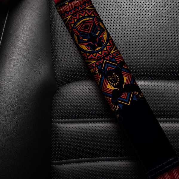 Panther v2 Wakanda Forever T'Challa Comic Eco Leather Printed Car Seat Belt Cover>