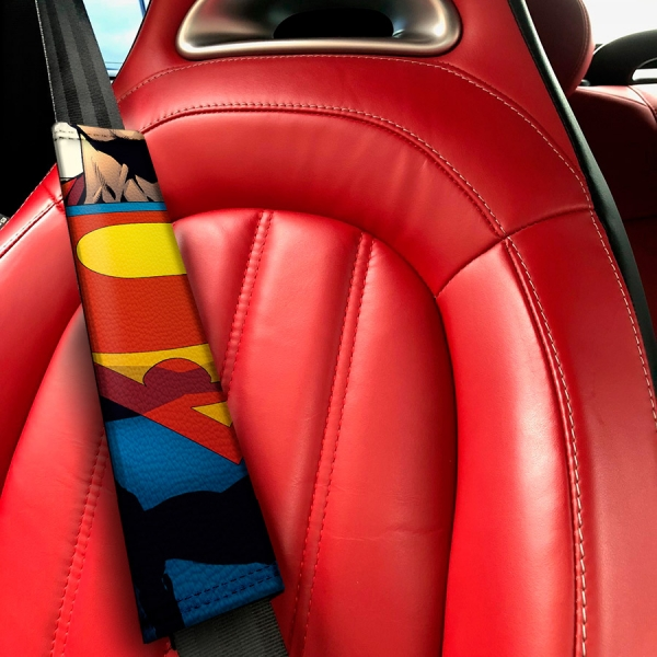Clark Kent Krypton Lois Lane Comic Metropolis Eco Leather Printed Car Seat Belt Cover>