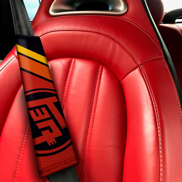 TEQ トヨタ v2 Retro Racing Development GT-86 Corolla Supra Sprinter Celica FR-S JDM Eco Leather Printed Car Seat Belt Cover>