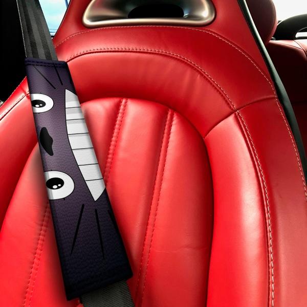 My Neighbor Manga Anime Studio Ghibli JDM Cute Lady Japan Made Funny Eco Leather Printed Car Seat Belt Cover>
