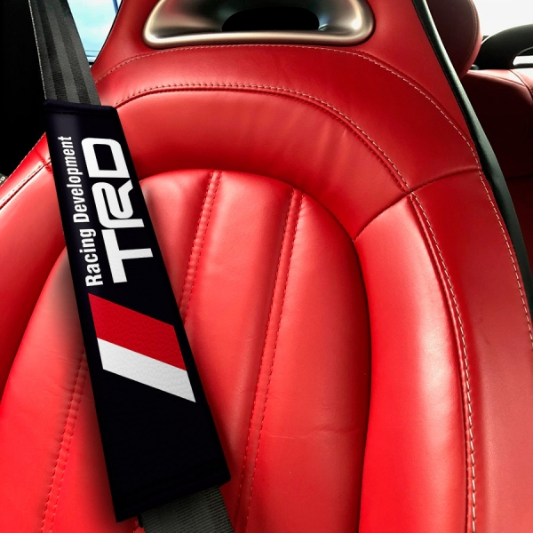 Racing Development v2 TRD GT-86 Corolla Supra Sprinter Celica FR-S JDM Eco Leather Printed Car Seat Belt Cover>