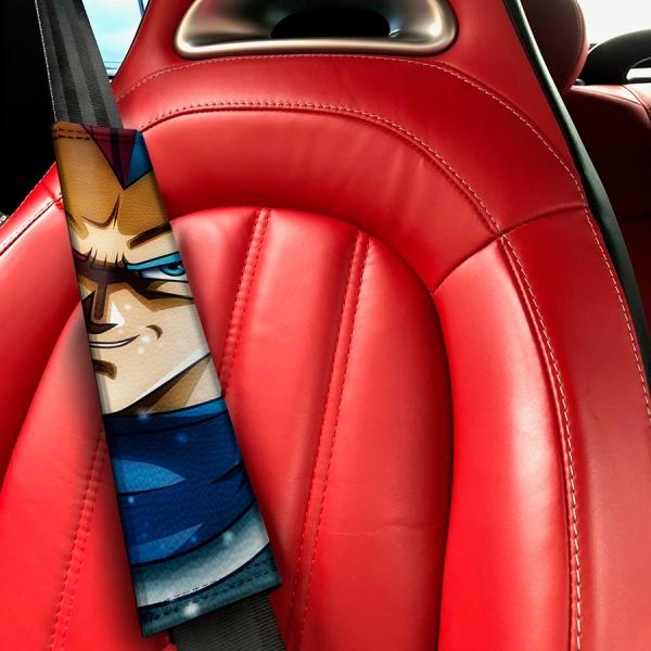 Vegeta Villian Saiyan Dragon Z Super DBZ Funny JDM Racing Low Stance Anime Manga Eco Leather Printed Car Seat Belt Cover#Dragon Ball