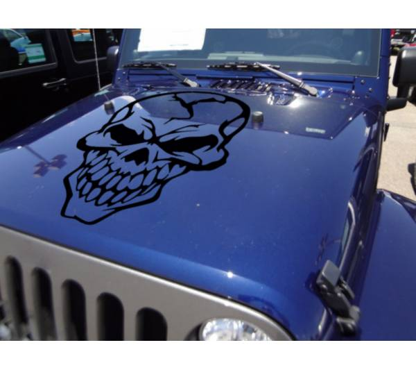 Big Skull Tribal Graphics Army Military Decal Car Truck Van Hood Vinyl Sticker
