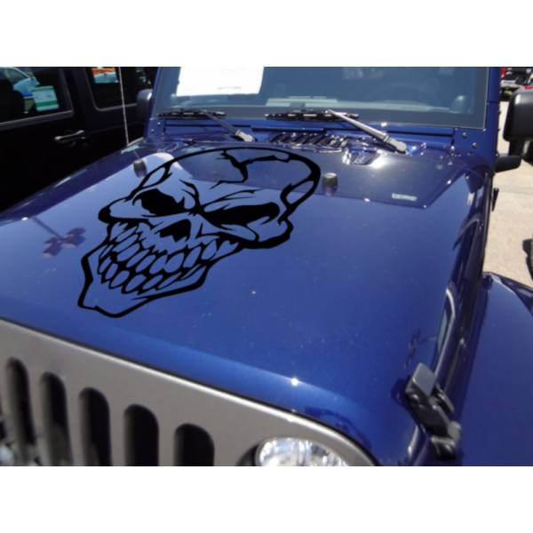 Big Skull Tribal Graphics Army Military Decal Car Truck Van Hood Vinyl Sticker >