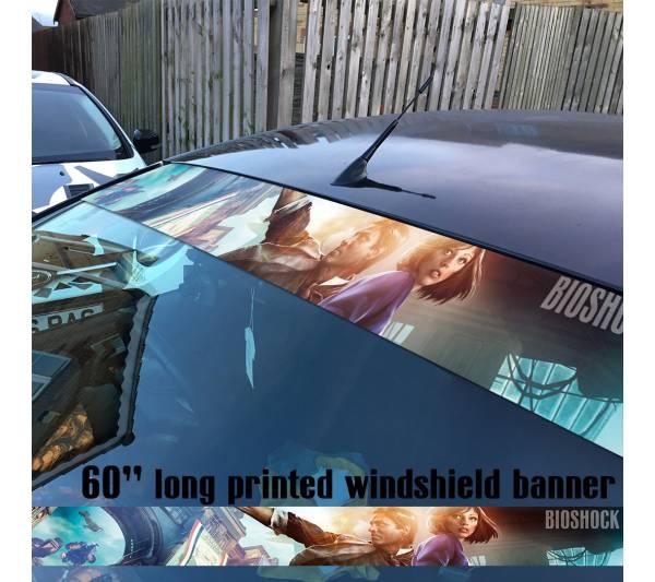 "60"" Bioshock Infinite Video Game RPG Strip Printed Windshield Car Vinyl Sticker Decal"