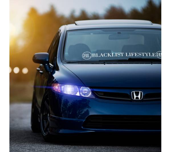 Blacklist Lifestyle Banner v1 Low Slow Show Stance Standard Slammed  JDM Racing Turbo Car Vinyl Sticker Decal