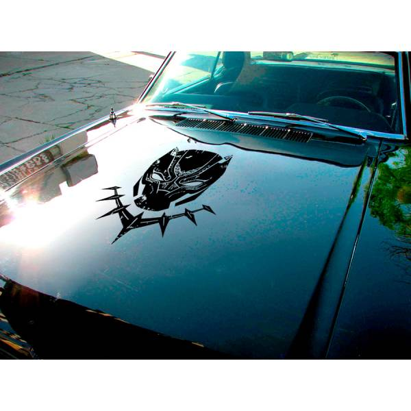 Panther Hood Mask T'Challa Wakanda Forever Comic Superhero Justice Car Vinyl Sticker Decal>