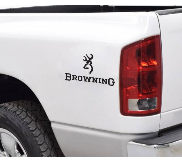 Browning Logo Small Deer Bow Arrow Hunter Hunting Truck Vinyl Sticker Decal