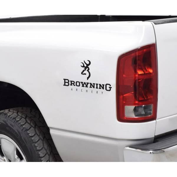 Browning Logo Archery Deer Bow Arrow Hunter Hunting Truck Vinyl Sticker Decal