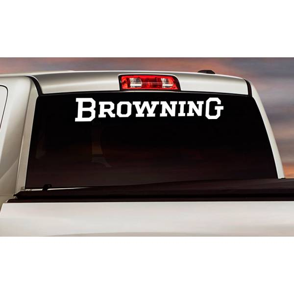 Browning Logo Windshield Banner Strip Deer Bow Arrow Hunter Hunting Life Truck Vinyl Sticker Decal