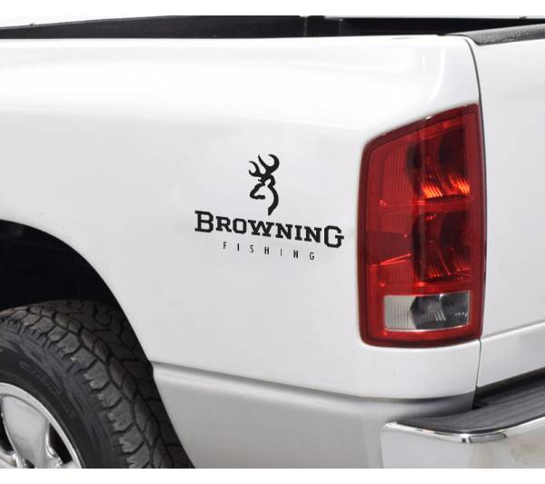 Browning Logo Fishing Fish Deer Bow Arrow Hunter Hunting Truck Vinyl Sticker Decal