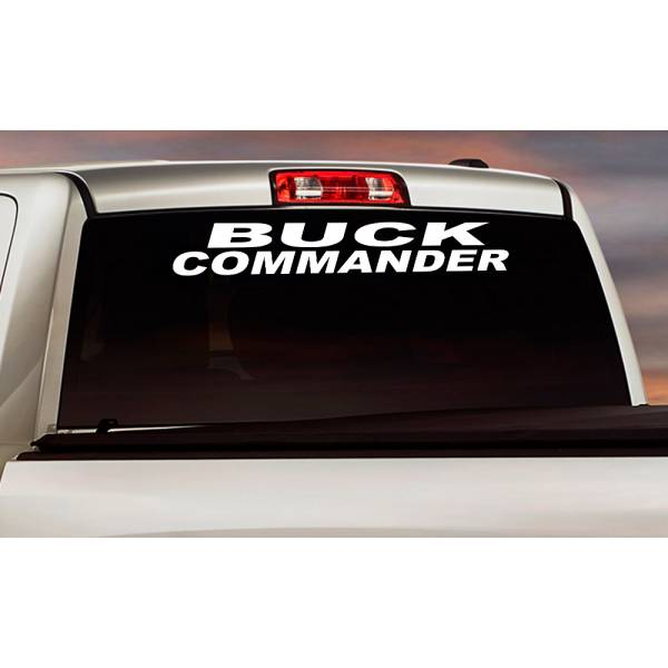 Buck Commander Windshield Banner Strip Deer Bow Arrow Hunter Hunting Life Truck Vinyl Sticker Decal>