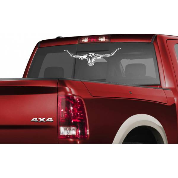 RM Williams Bull Horns Longhorn Hunting Truck Windshield SUV 4x4 Off-Road Vinyl Decal
