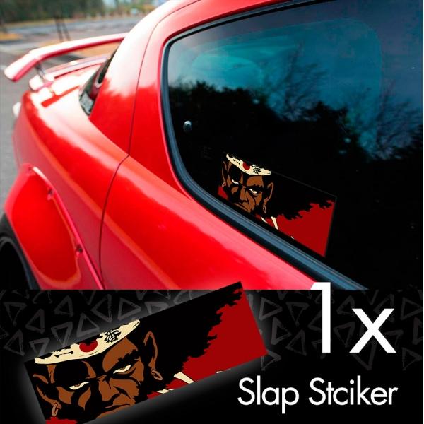 Afro Samurai v1 Rokutaro Number 1 2 Justice Anime Manga  JDM Printed Box Slap Bumper Car Vinyl Sticker