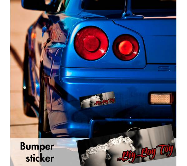 Big Boy Toy Sexy Funny Bumper Printed Sticker Box Slap JDM Stance Event Show Low Car Vinyl Decal