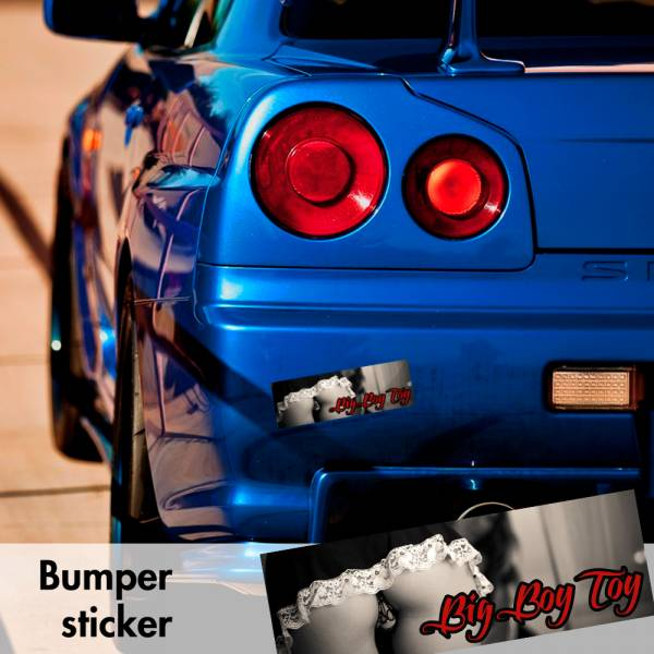 Big Boy Toy Sexy Funny Bumper Printed Sticker Box Slap JDM Stance Event Show Low Car Vinyl Decal>