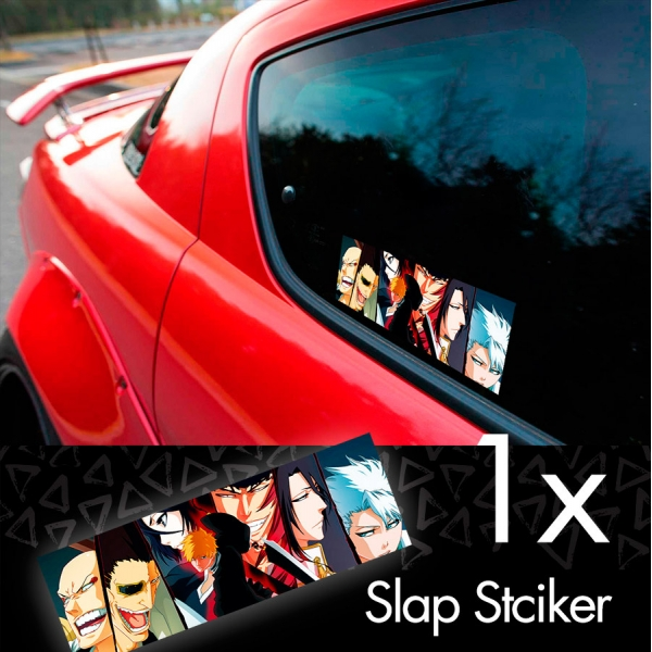 Bleach V1 Soul Ichigo Shinigami Kuchiki Urahara Anime Manga JDM Printed Box Slap Bumper Car Vinyl Sticker>