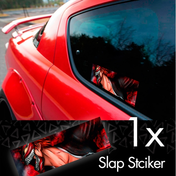 Bleach V2 Soul Ichigo Shinigami Kuchiki Urahara Anime Manga JDM Printed Box Slap Bumper Car Vinyl Sticker