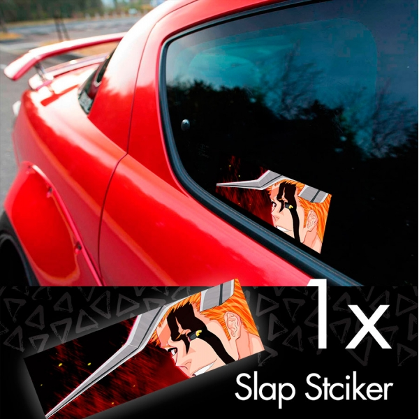 Bleach V3 Soul Ichigo Shinigami Kuchiki Urahara Anime Manga JDM Printed Box Slap Bumper Car Vinyl Sticker
