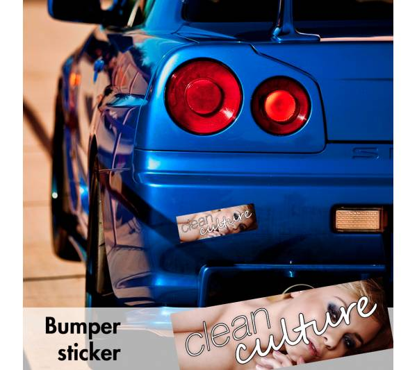 Clean Culture Sexy Simply Bumper Printed Sticker Box Slap JDM Stance Event Show Low Car Vinyl Decal