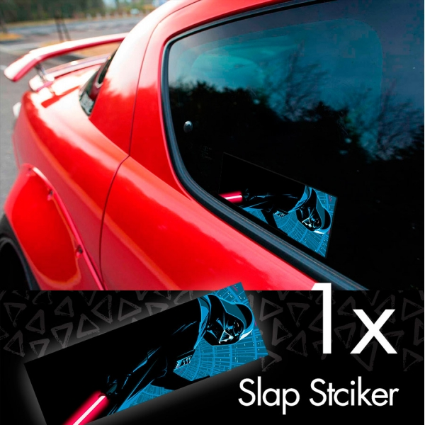 Darth Mask Lightsaber Death Star Galactic Empire Sith Order Printed Box Slap Bumper Car Vinyl Sticker>