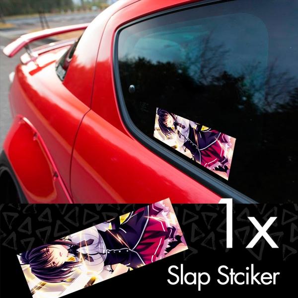 High School DxD v2 ハイスクールD×D Akeno Himejima Koneko Toujou Sexy Hot Boobs Girl Anime Manga Printed Box Slap Bumper Car Vinyl Sticker