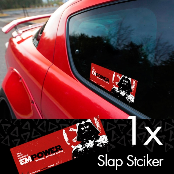 Empower Imperial Officer Darth Vader Sith Galactic Empire Clone Force Star Wars Printed Box Slap Bumper Car Vinyl Sticker