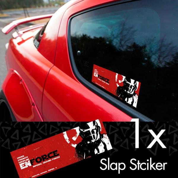 Enforce Stormtrooper Darth Vader Sith Galactic Empire Clone Force Star Wars Printed Box Slap Bumper Car Vinyl Sticker
