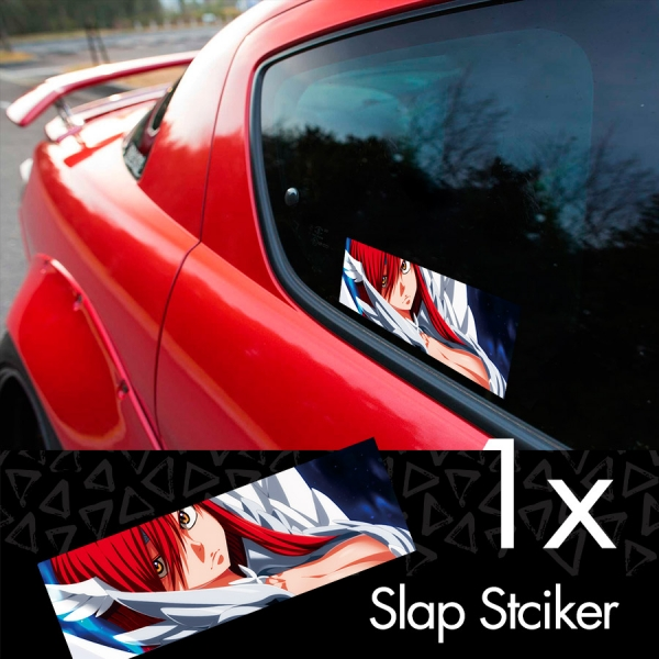 Fairy Tail v6 Erza Scarlet Lucy Heartfilia Sexy Hot Boobs Ass Anime Manga Printed Box Slap Bumper Car Vinyl Sticker>