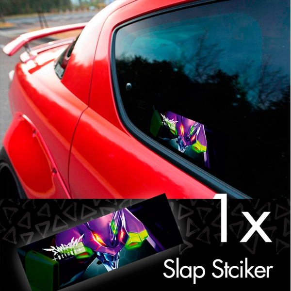 Eva Unit 01 Shinji Ikari Evangelion Neon Genesis Lilith Angel NERV Anime Manga Printed Box Slap Bumper Car Vinyl Sticker