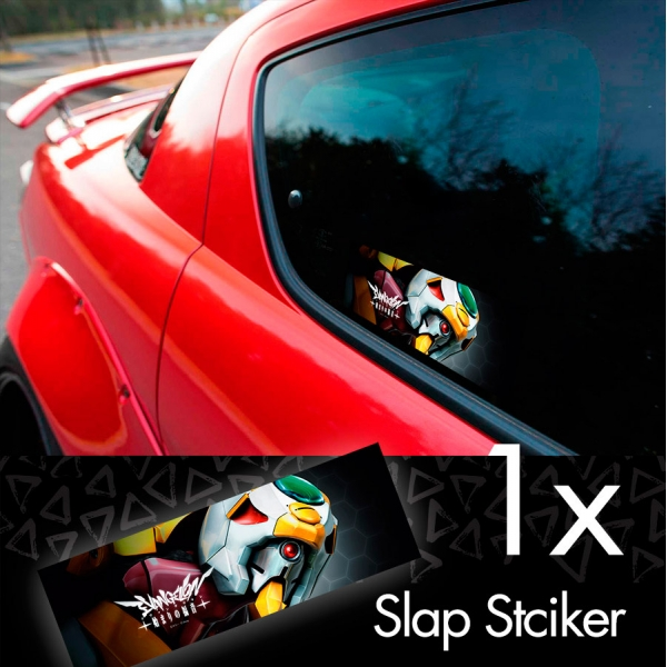 Eva Unit 00 Rei Ayanami Evangelion Neon Genesis Angel NERV Anime Manga Printed Box Slap Bumper Car Vinyl Sticker