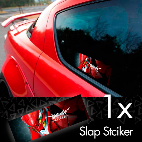Eva Unit 02 Asuka Langley Soryu Neon Genesis Angel NERV Anime Manga Printed Box Slap Bumper Car Vinyl Sticker>