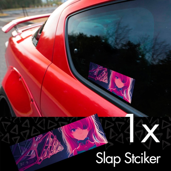Asuka Langley Soryu Neon Genesis Eva Angel NERV Anime Manga Printed Box Slap Bumper Car Vinyl Sticker>