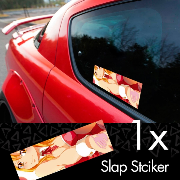 Fairy Tail v3 Erza Scarlet Lucy Heartfilia Sexy Hot Boobs Ass Anime Manga Printed Box Slap Bumper Car Vinyl Sticker>
