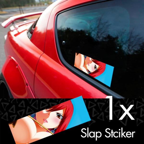 Fairy Tail v4 Erza Scarlet Lucy Heartfilia Sexy Hot Boobs Ass Anime Manga Printed Box Slap Bumper Car Vinyl Sticker>