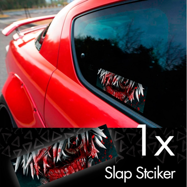 Tokyo Ghoul V1 Ken Kaneki Manga Anime 東京喰種 トーキョーグール JDM Printed Box Slap Bumper Car Vinyl Sticker