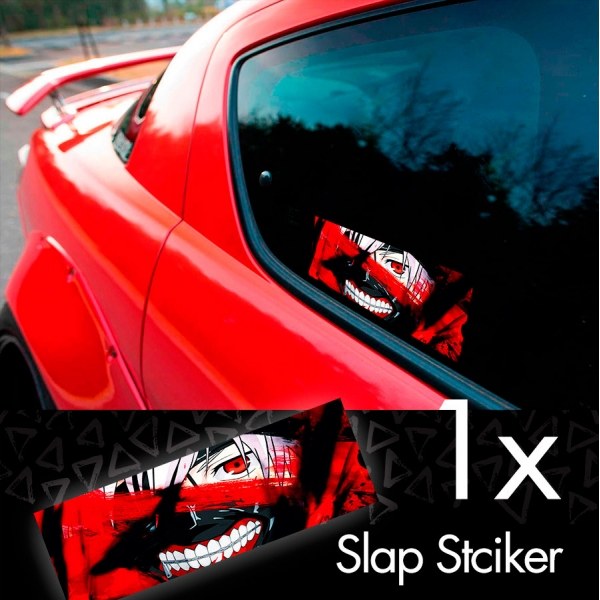 Tokyo Ghoul V3 Ken Kaneki Manga Anime 東京喰種 トーキョーグール JDM Printed Box Slap Bumper Car Vinyl Sticker