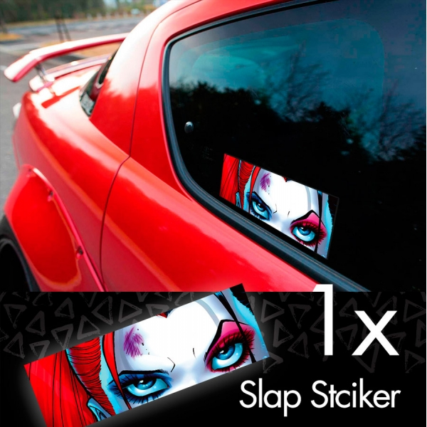 Daddys Lil Monster Puddin Look Sexy Suicide Comic Printed Box Slap Bumper Car Vinyl Sticker>
