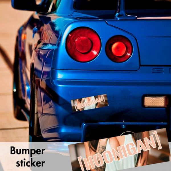 Hoonigan JDM Fatlace Racing Hot Sexy Bumper Printed Sticker Box Slap Stance Event Show Car Vinyl Decal