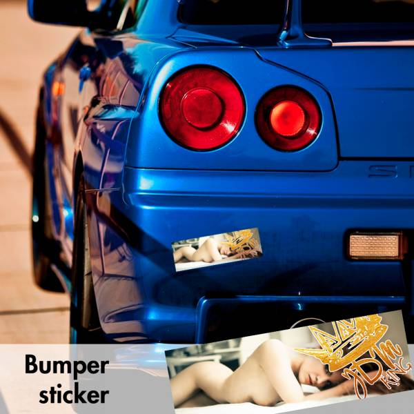 JDM King Racing Sexy Bumper Printed Sticker Box Slap Stance Event Show Low Car Vinyl Decal